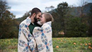 Waynesville Pumplin Patch Couple's Session    Ashleigh and John