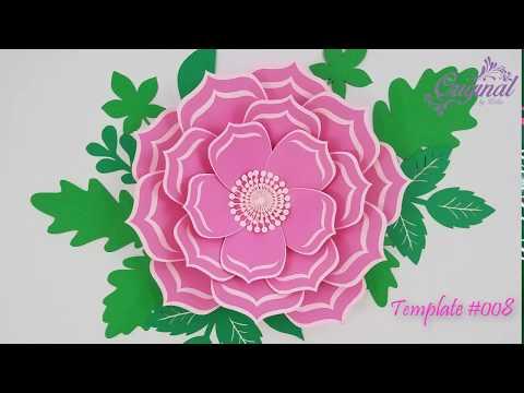 DIY Paper Flower || Flower Template #008 || DIY Decor