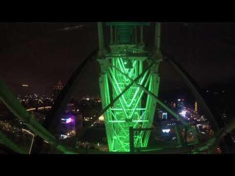 Taipei, Taiwan - Miramar Entertainment Park Ferris Wheel POV HD (2017)