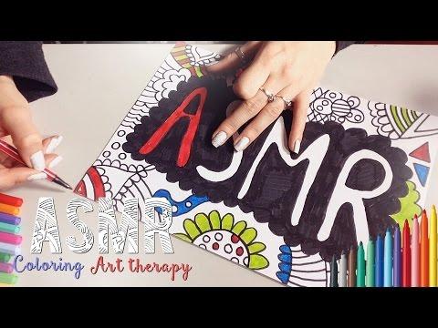 ASMR Français - Relaxation ~ Coloring, Art therapy / Coloriage, Art thérapie