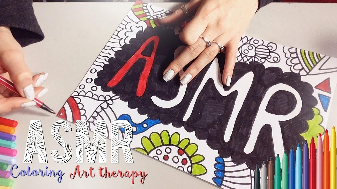 Feutre A Coloriage En Anglais.Asmr Francais Coloring Art Therapy Coloriage Art Therapie