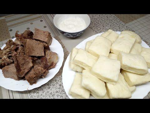 Аварский хинкал. Мусульманка готовит. Аварская кухня.
