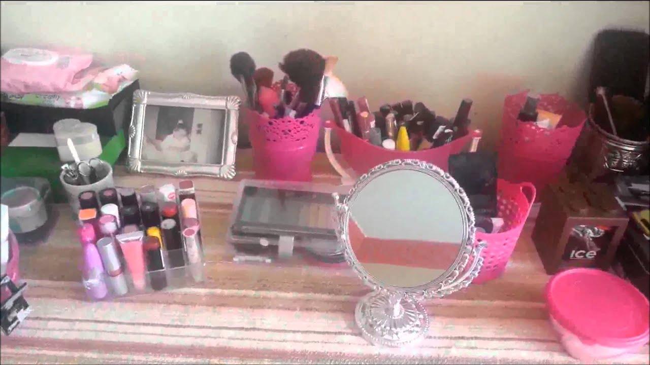 astuces n°2 ] rangement maquillage / soins ❤ - youtube