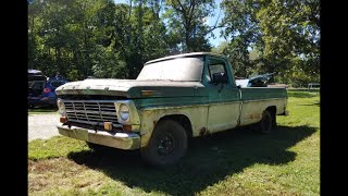 68 F100 Revival (20 Years Forgotten in the Woods) We DROVE her Out !!! Grassroots Roadkill