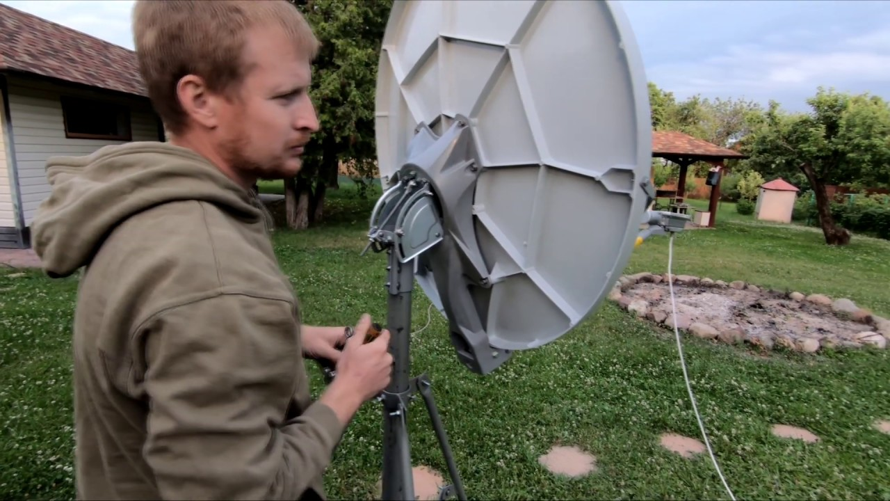 настройка антенны спутникового интернета