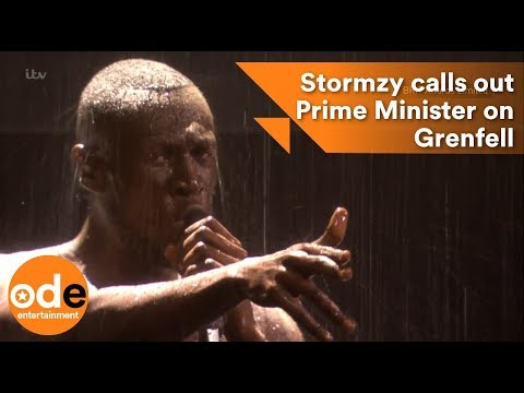 Stormzy calls out the Prime Minister on Grenfell : BRITs 2018