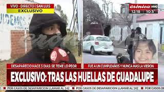 Caso Guadalupe: los bomberos trabajan en el lugar