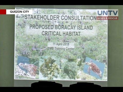 Ilang lugar sa Boracay Island, idedeklarang critical habitat area ng DENR
