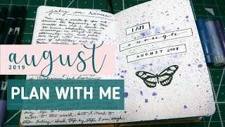 AUGUST 2019 PLAN WITH ME + mental health in my bullet journal