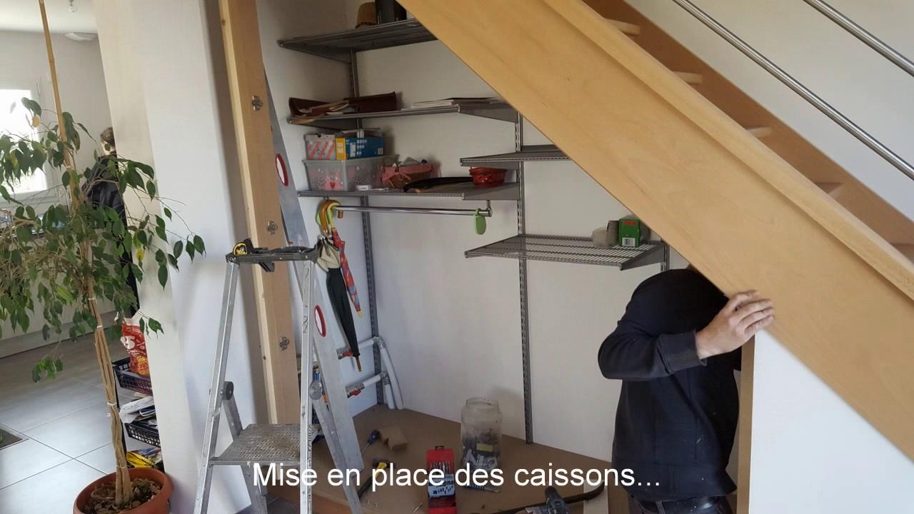 menuiserie lemaux am nagement dessous d 39 escalier par un. Black Bedroom Furniture Sets. Home Design Ideas
