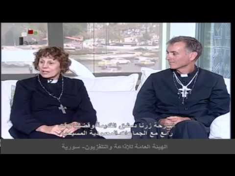 Syrian TV interviews our Australian Christian delegation to Damascus