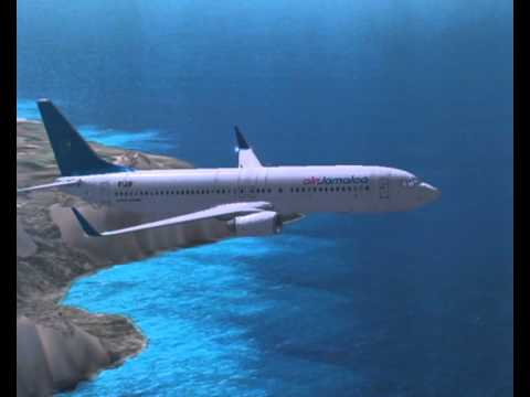 FSX air Jamaica Boeing 737-800 from ST.Lucia to Jamaica.