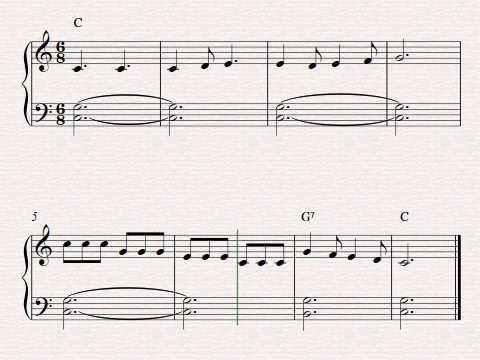 Free easy beginner piano sheet music - Row, Row, Row Your ...
