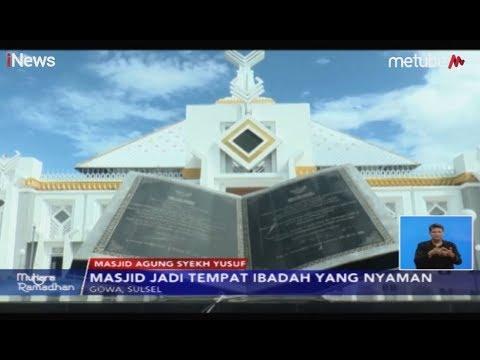 masjid-agung-syeikh-yusuf-di-gowa,-nyaman-untuk-ibadan-dan-lokasi-wisata-religi---inews-siang-28/05