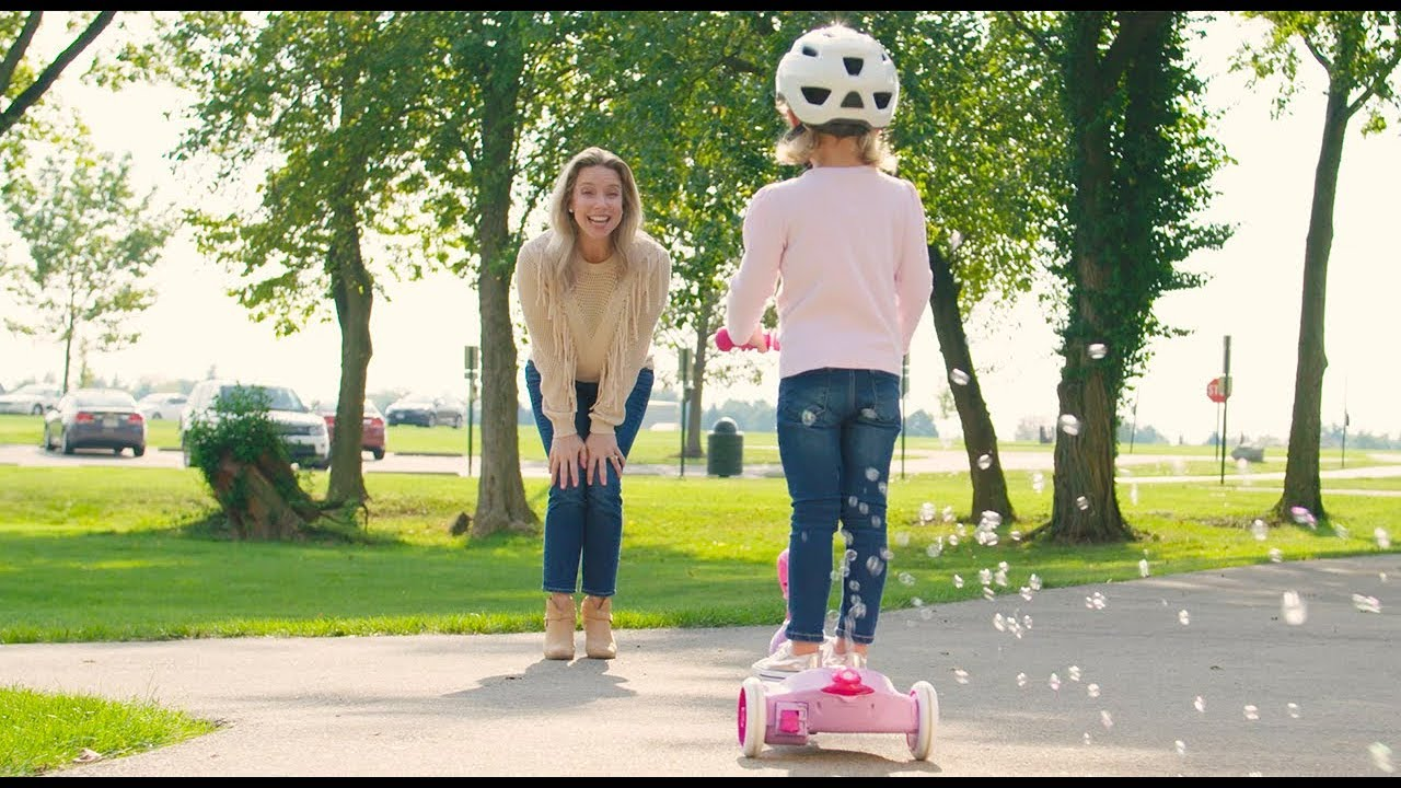 Disney Princess 6v Electric 3 Wheel Scooter With Bubbles By Huffy