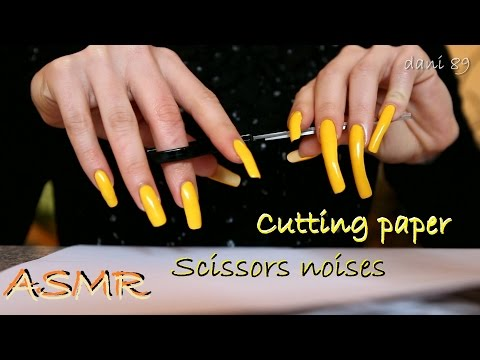 🔊 ASMR: ✂ Sounds of soothing cutting paper | Scissors noises ✂ 💛