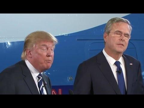 Trump, Bush square