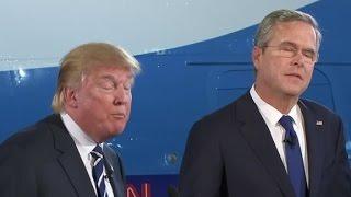 Trump, Bush square off over casinos in Florida
