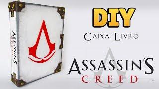 DIY:  SAIBA COMO FAZER UMA CAIXA LIVRO DE ASSASSIN'S CREED  #diygames