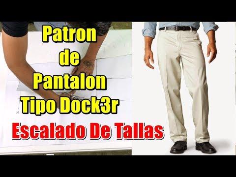 Patrones De Pantalon Tipo Dock3rs De Caballero Youtube