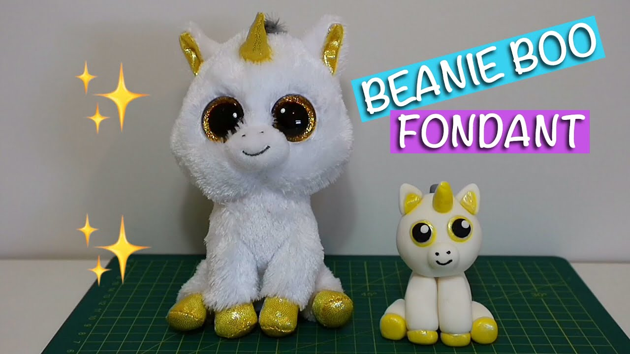 ecf9dde1a63 Easy Beanie Boo fondant tutorial. How to make Beanie Boo with fondant for  cake decoration.