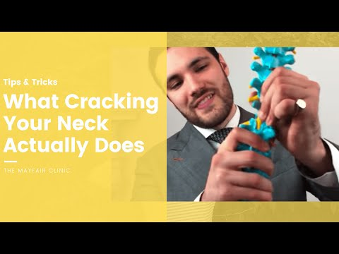 Crack your neck like a chiropractor is not putting bones back in place.