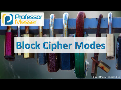 Block Cipher Modes - CompTIA Security+ SY0-501 - 6.2