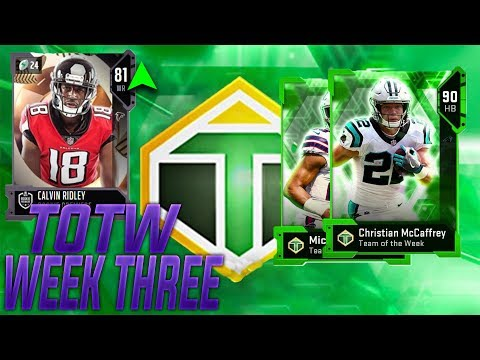 TEAM OF THE WEEK WEEK 3 REVEALED! 90 CHRISTIAN MCCAFFREY AND MICAH HYDE! ANOTHER RP UPGRADE!