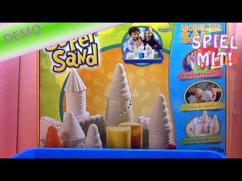 GIANT Super Sand Set Goliath - Wie baue ich eine Sandburg Demo   SuperSand Modeling   deutsch