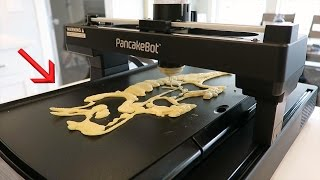 Print Your BREAKFAST - NEW 3D Pancake Printer!!