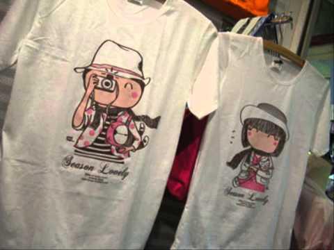 ขายส่งเสื้อผ้าเกาหลี เสื้อคู่สีดำ