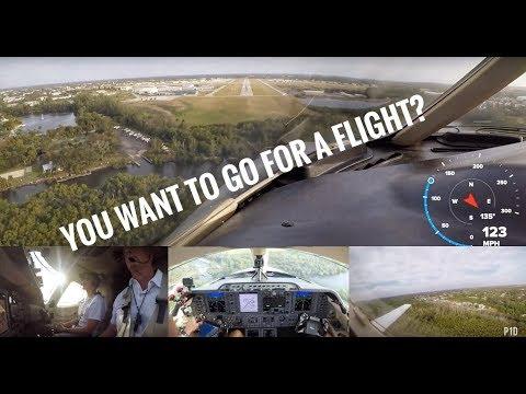 Pilot surprises fans with a private Jet flight!