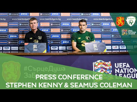 PRESS CONFERENCE   Manager Stephen Kenny & captain Seamus Coleman ahead of Bulgaria clash