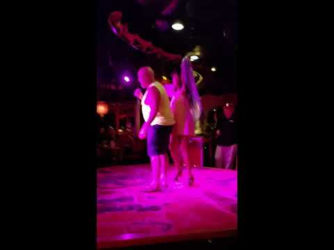 Rick's Karaoke with drunk woman on Carnival's Cruise Sept. 2016