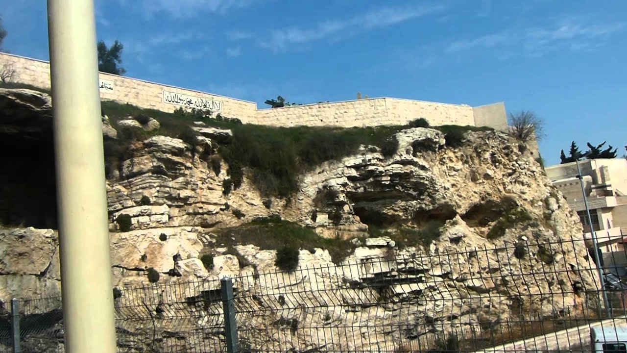 the hill of skull where jesus had died on the cross jerusalem