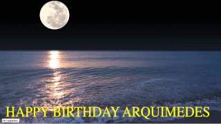 Arquimedes  Moon La Luna - Happy Birthday