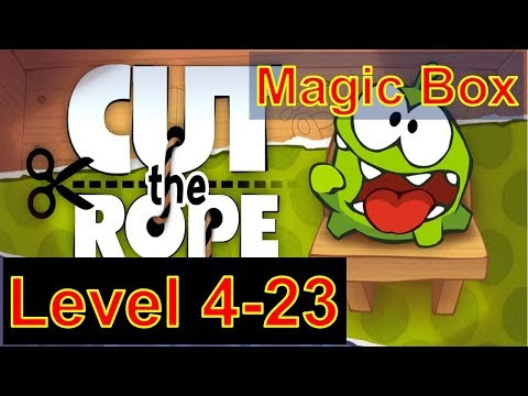 how-to-play-cut-the-rope-season-1-magic-box-level-4-23-with-3-stars-walkthrough