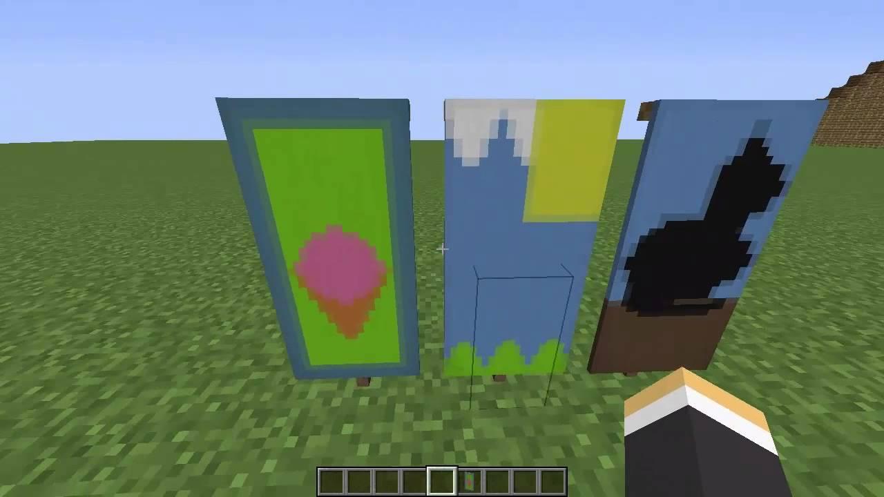 Minecraft Custom Banner Tutorial #1 | Ice Cream Landscape ...