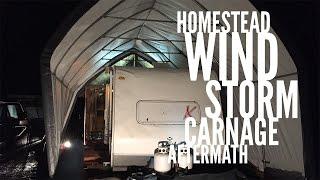 HUGE WINDSTORM DESTROYS OUR RV SHELTER!