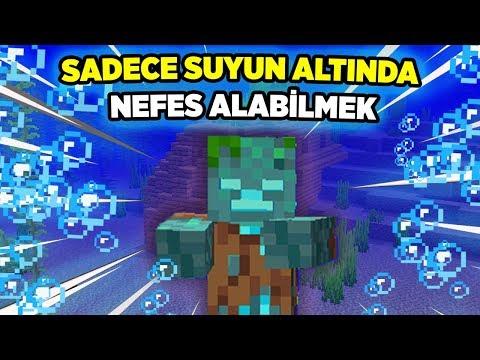 Sadece Su Altında Nefes Alarak Minecraft Bitirmek