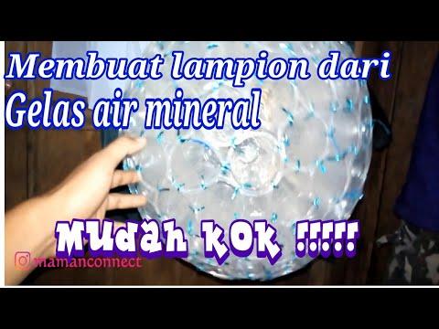 LAMPION DARI GELAS BEKAS AIR MINERAL YouTube