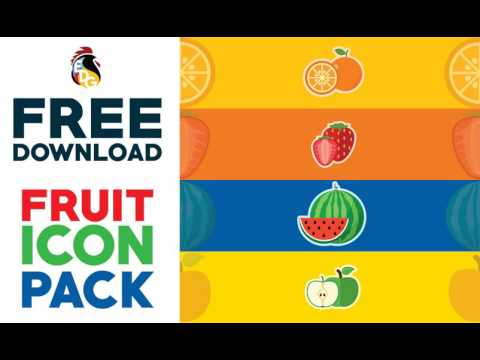 FREE DOWNLOAD! FRUIT ICON PACK VECTOR (ILLUSTRATOR)