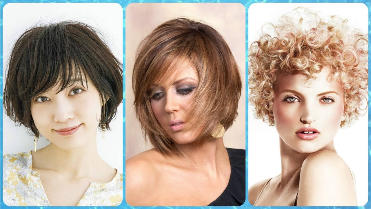 Top 20 Kurzhaarfrisuren Bei Rundem Gesicht Herbst 2018 Youtube