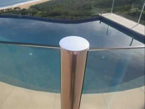 Glass Pool Fence semi-frameless glass pool fencing - adelaide frameless glass - youtube