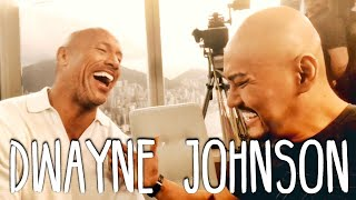 Dwayne THE ROCK Johnson (SUMPAH NIH ORG GEDE BGT!!) Interview Hongkong Skyscraper