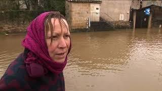 Inondations à Figeac, des personnes évacuées