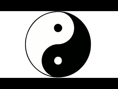 How to draw a perfect yin yang symbol. HD - YouTube