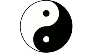 How to draw a perfect yin yang symbol. HD