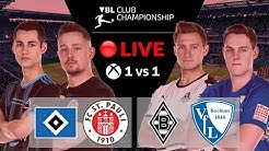 RE-LIVE Virtual Bundesliga | 1-vs-1 | HSV vs. St. Pauli | M'gladbach vs. Bochum | Xbox
