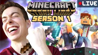 You Made Me Play This. | Minecraft Story Mode Season 1